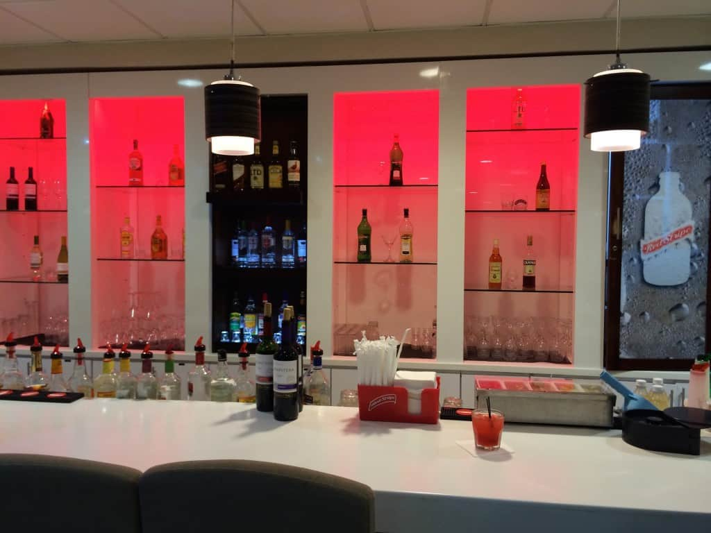 Bar in Club Mobay departure lounge