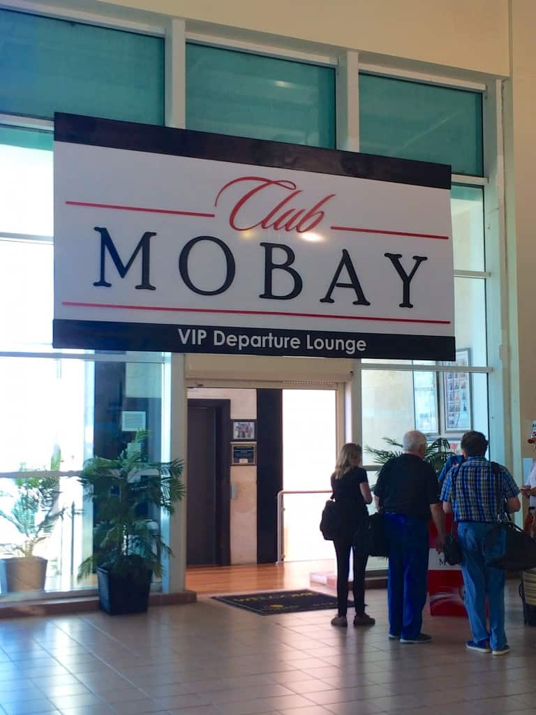 Club Mobay VIP departure lounge