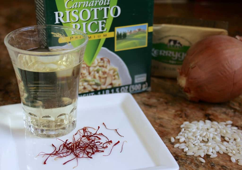 ingredients for Risotto alla Milanese