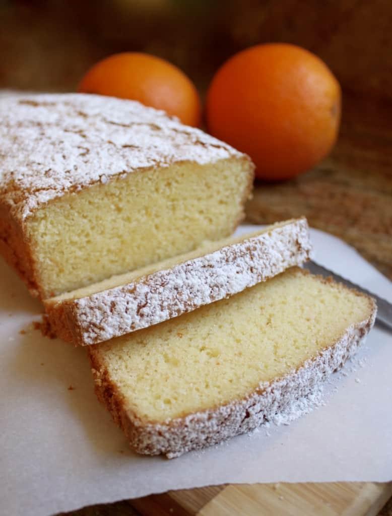 Gluten-free Orange Loaf Cake
