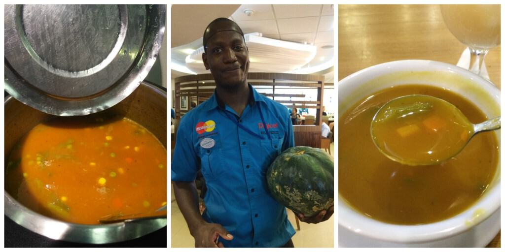 Pumpkin soup in Jamaica