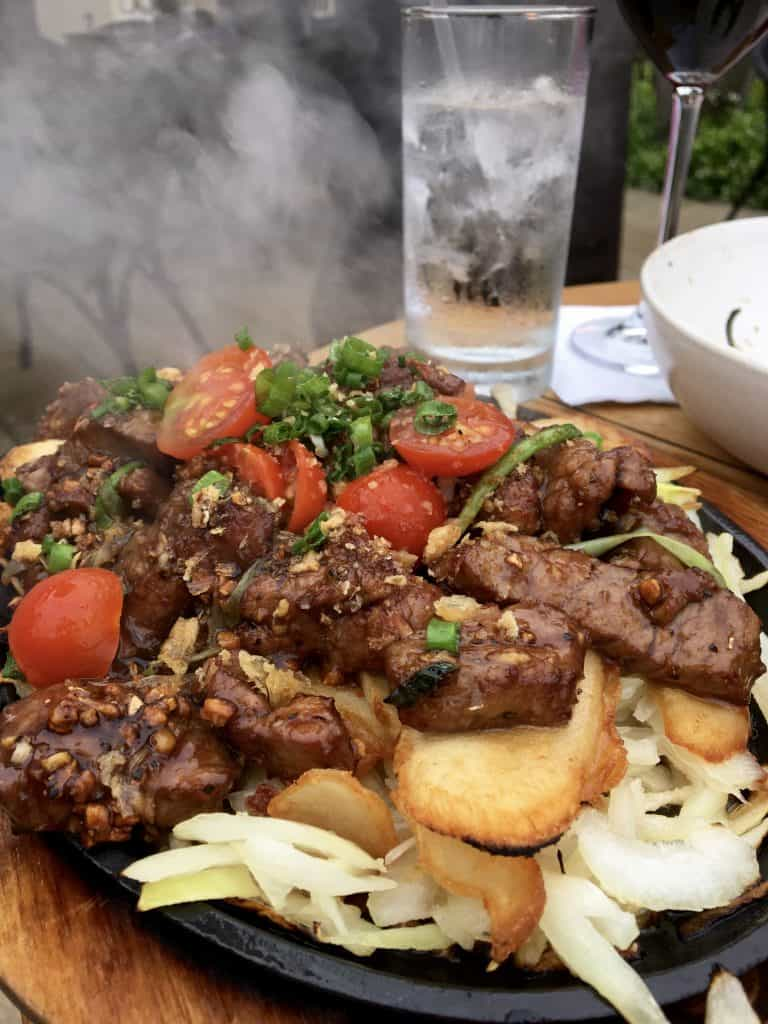 Sizzling Shaking Beef that melted in our mouths