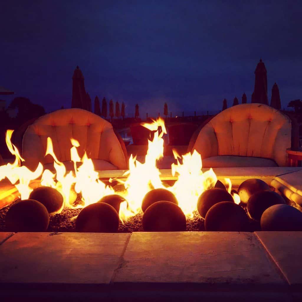 firepit at Terranea