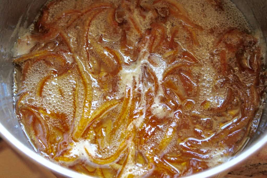 boiling candied peel