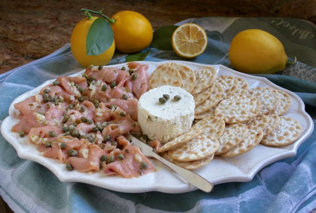 smoked salmon with goat cheese appetizers