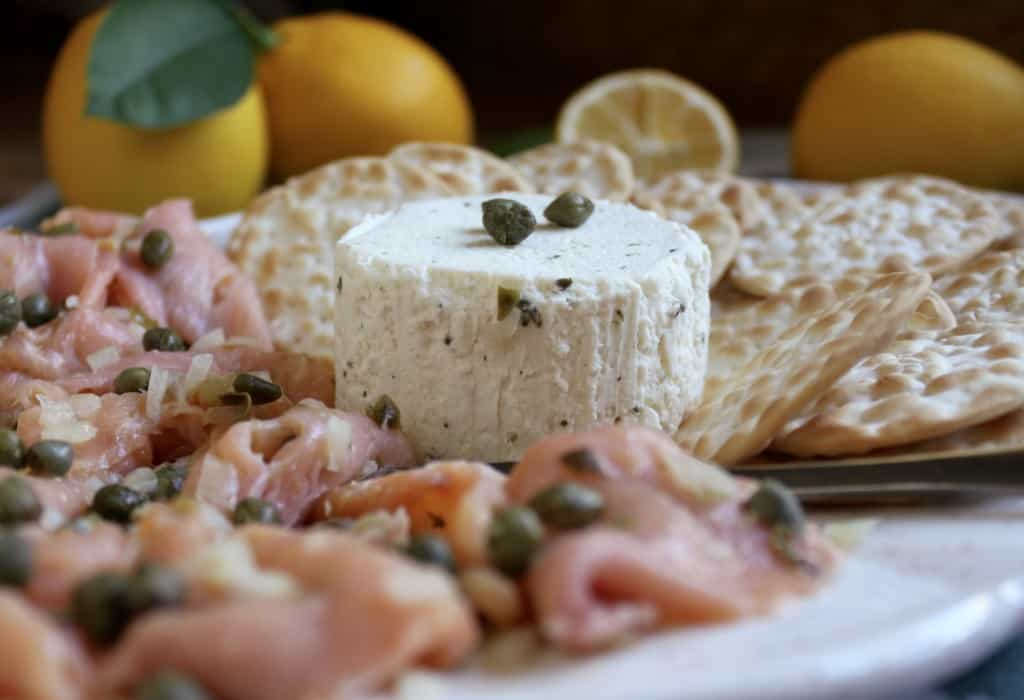 Smoked Salmon and Goat Cheese appetizers