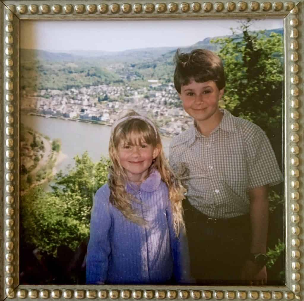 My kids in Boppard, Germany
