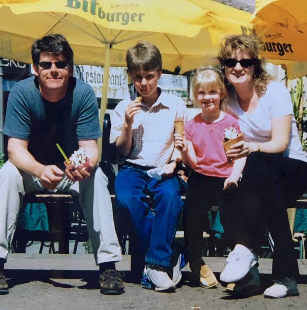 Family photo in Boppard, Germany