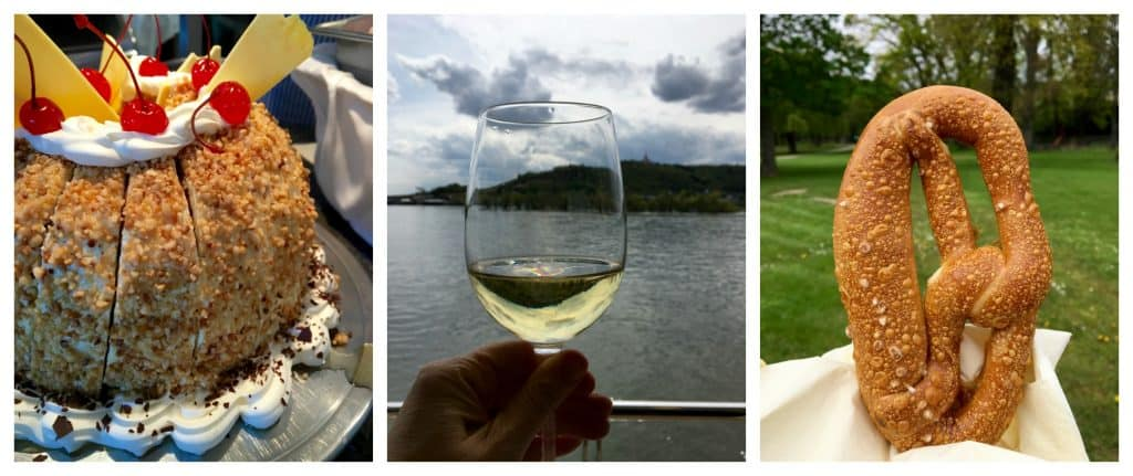 German food and wine aboard the AmaCerto while Cruising the Rhine Gorge