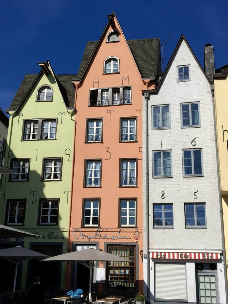Old houses in Cologne, Germany
