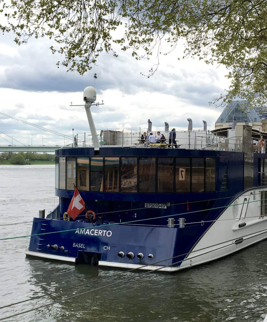 AmaWaterways AmaCerto Ship docked in Cologne, Germany