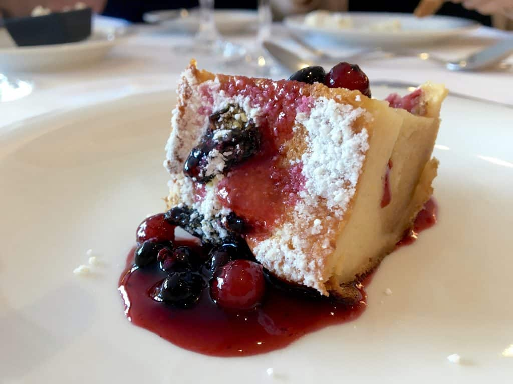 Bread and Butter Pudding on the AmaCerto on the Enchanting Rhine River cruise