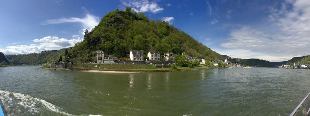 Panoramic shot of the Rhine River