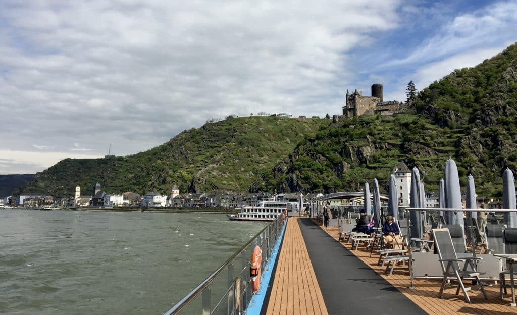 Top deck of the AmaCerto ship on the Enchanting Rhine River cruise