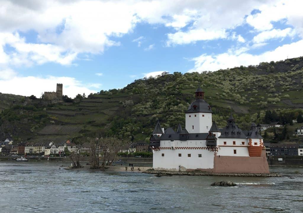 The Pfalzgrafenstein Castle IN the Rhine River while Cruising the Rhine Gorge