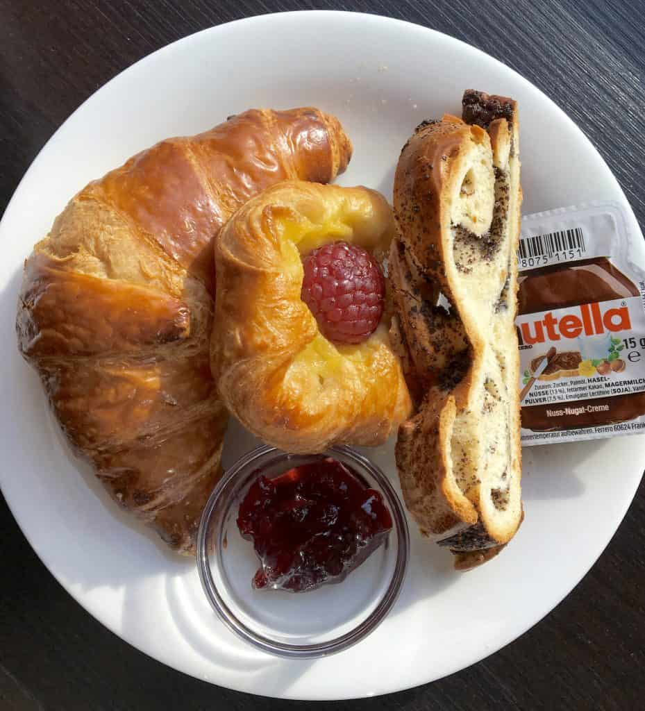 Breakfast pastries on the AmaCerto