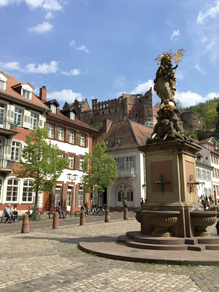 square in Heidelberg, Germany