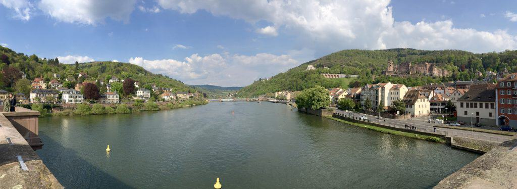 Neckar River in Heidelberg, Germany