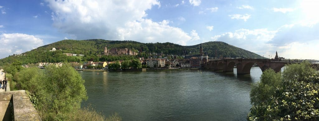 Panorama of Heidelberg, Germany AmaWaterways Enchanting Rhine River cruise