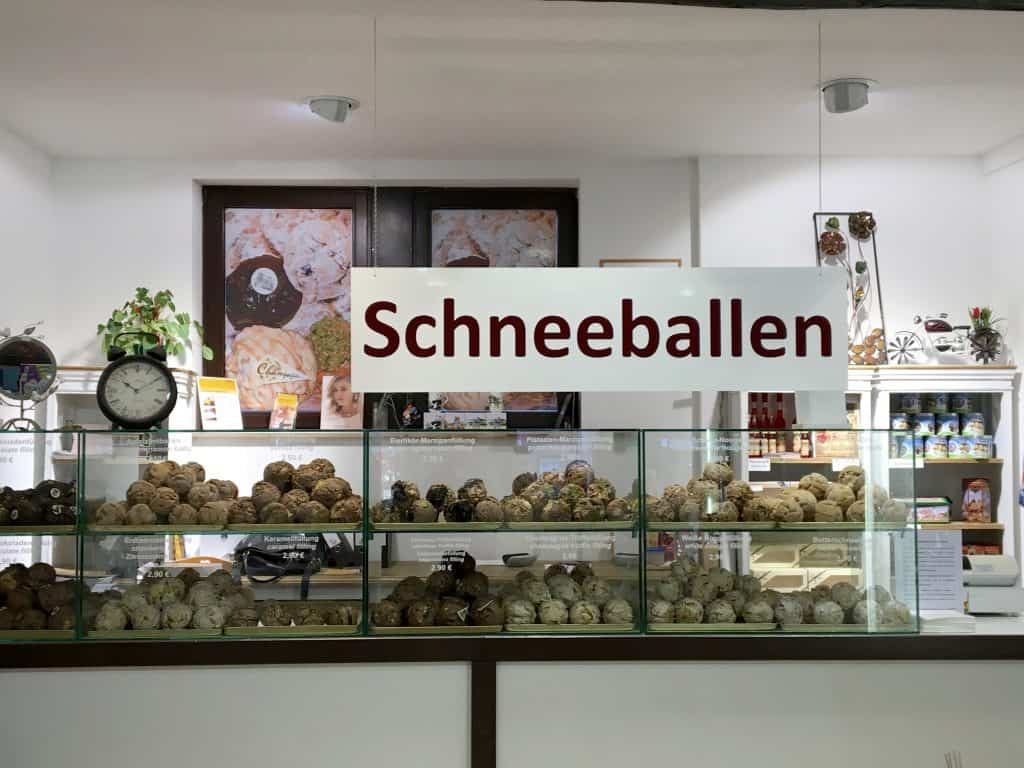 Schneeballen shop in Heidelberg, Germany