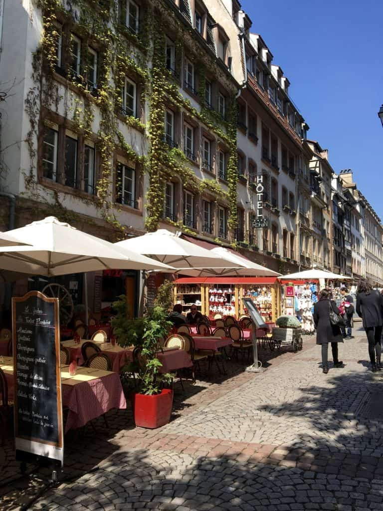 Walking in Strasbourg with an AmaWaterways cruise excursion.