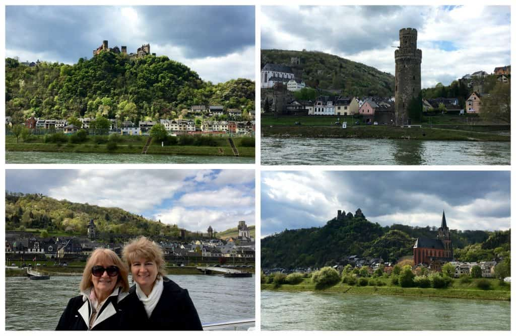 Sights along the Rhine Gorge in Germany