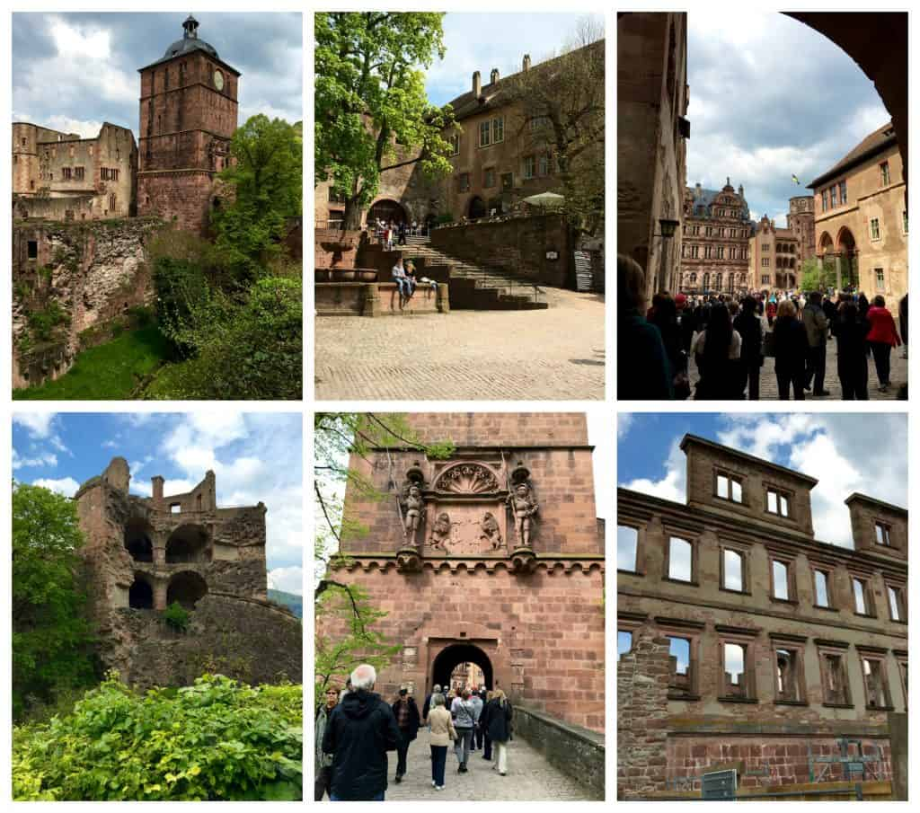 Heidelberg Castle collage
