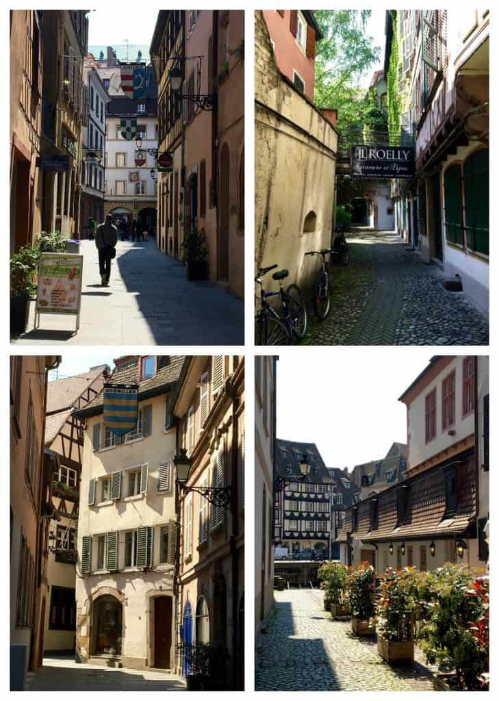 Peaceful streets in Strasbourg, France
