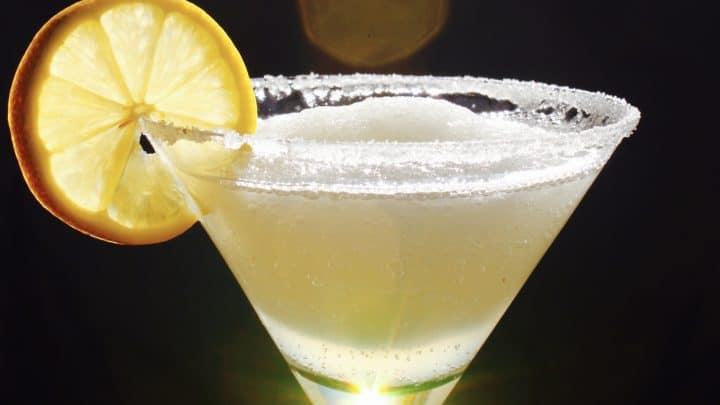 The Best Frozen Lemon Drop Martini (Slush) You'll Ever Have (a Margarita-style Icy Lemon Drop!)