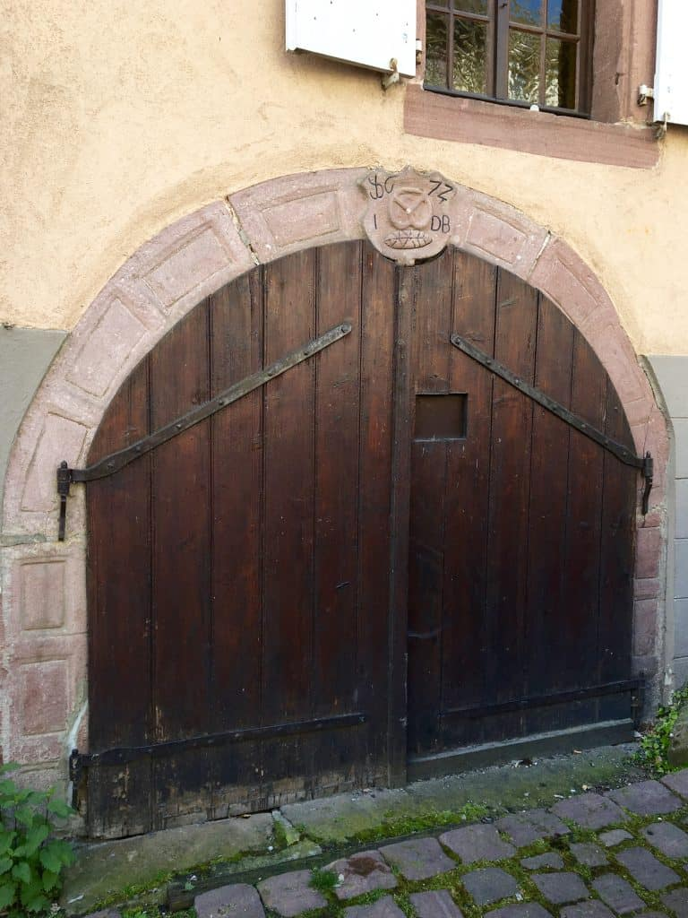 Old bakery in Riquewihr, France.