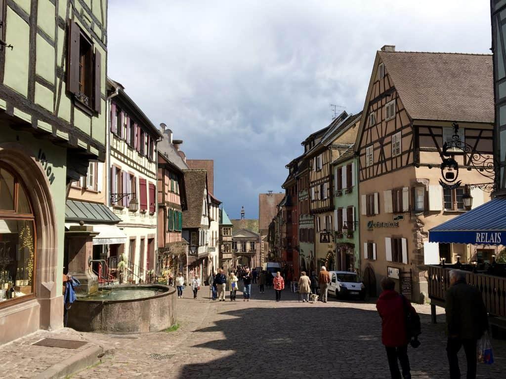 Lovely village of Riquewihr, France.