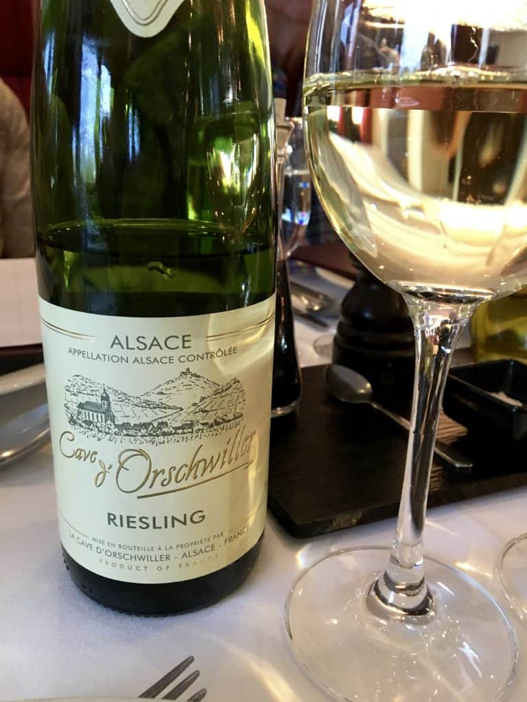 Reisling from Alsace, France.