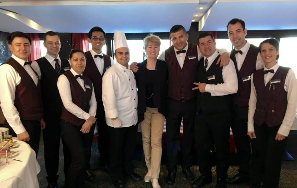 Crew of the AmaCerto with Christina from Christina's Cucina