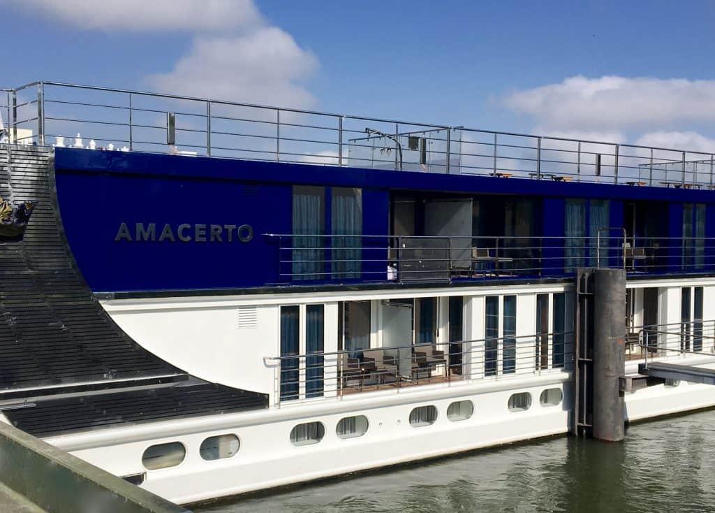 AmaCerto docked in Basel, Switzerland