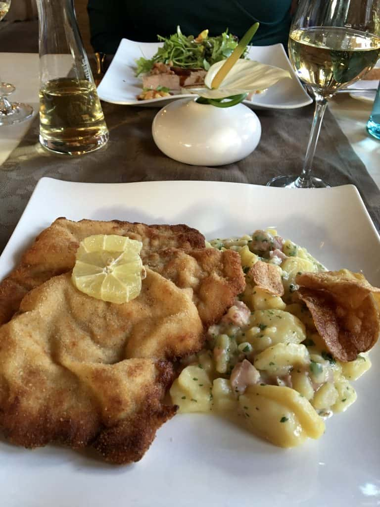 Weiner schnitzel at Hotel Alemannenhof.