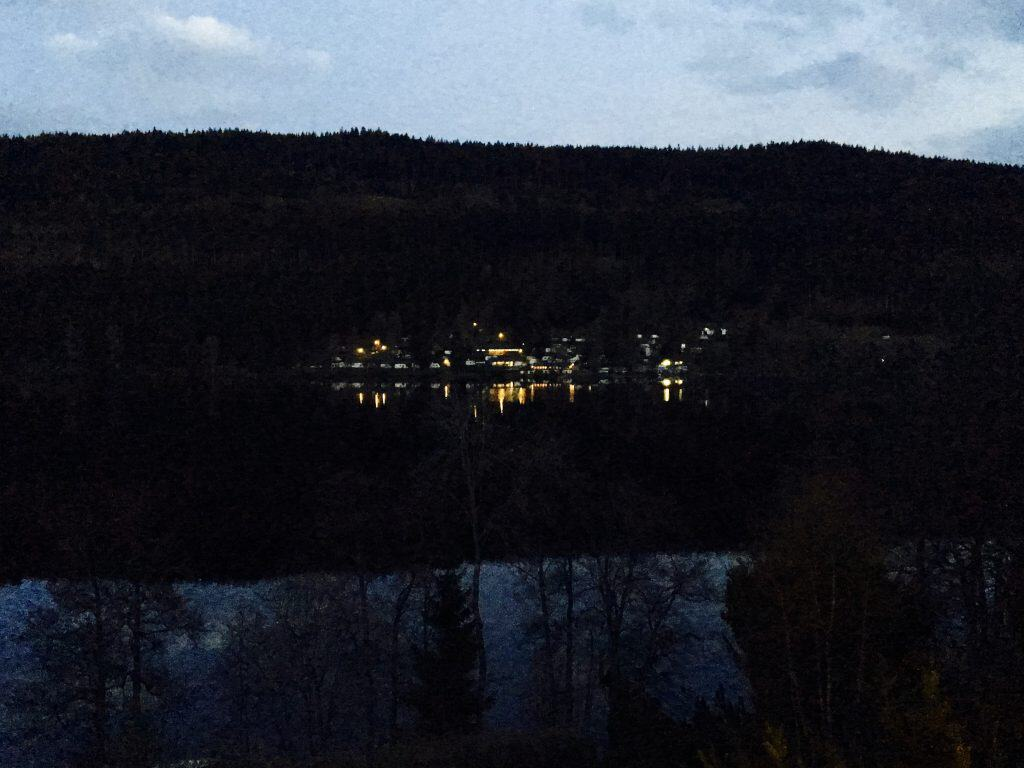 Lake Titisee at night.