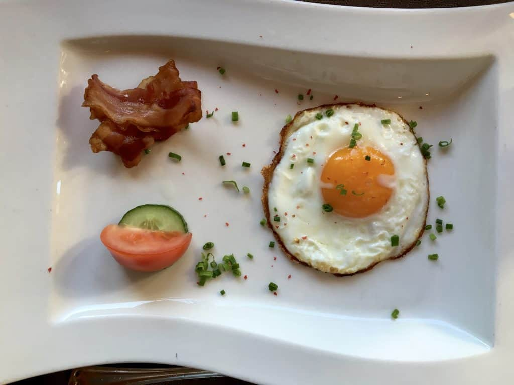 Fried egg at Hotel Alemannenhof.