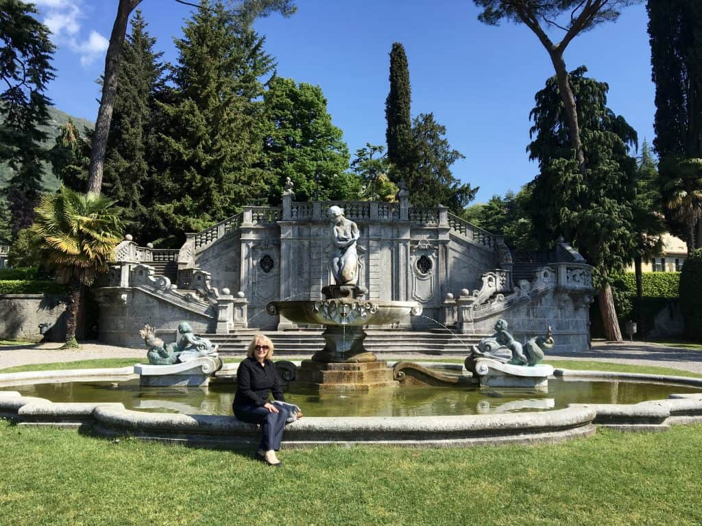 My mother in the park in Tremezzo