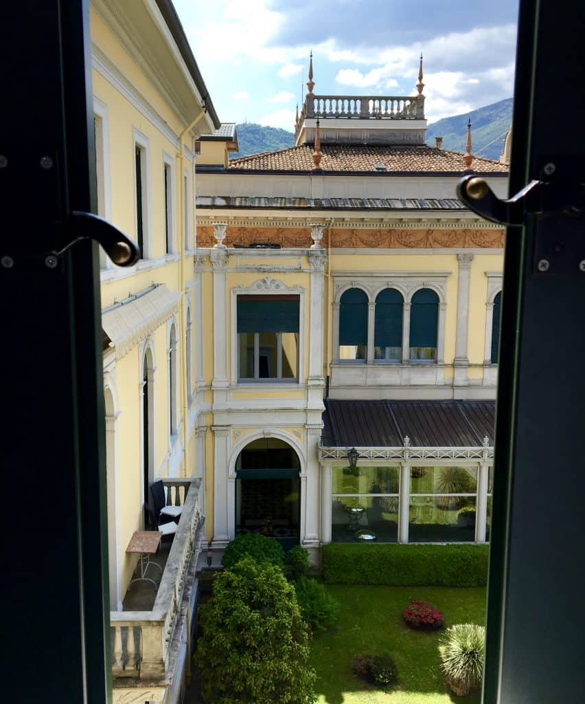 Room with a view at the Grand Hotel Villa Serbelloni
