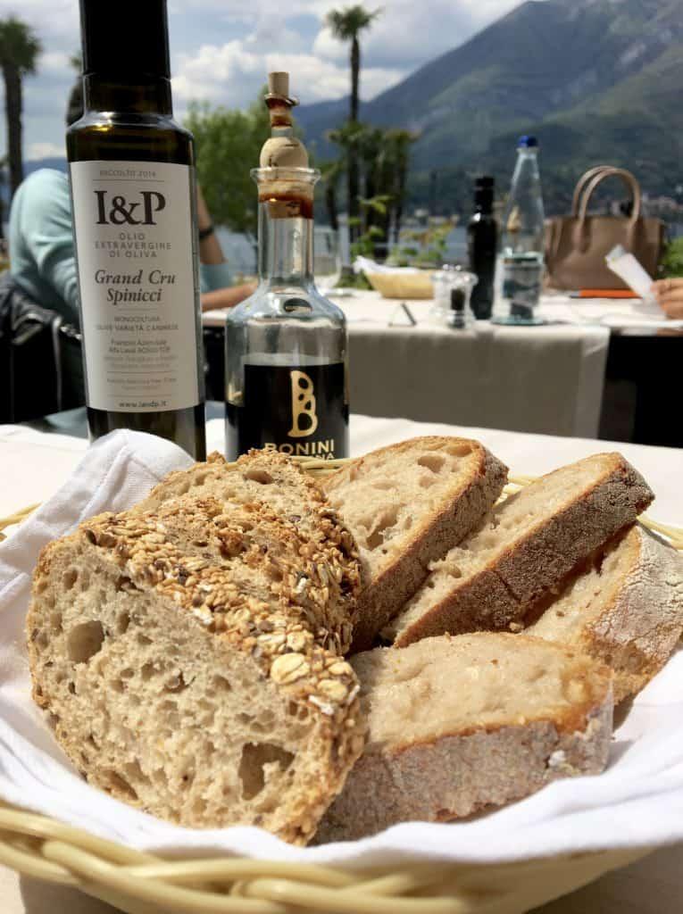 Bread at lunch at the Grand Hotel Villa Serbelloni