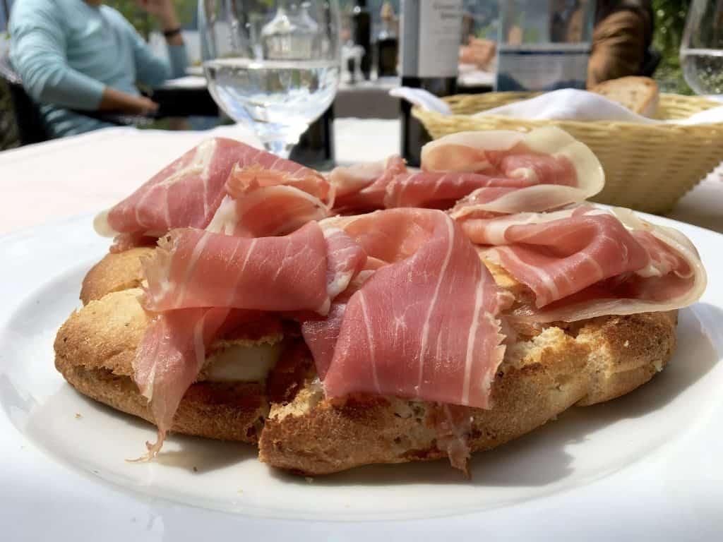 Burrata and Prosciutto Focaccia at The Grand Hotel Villa Serbelloni