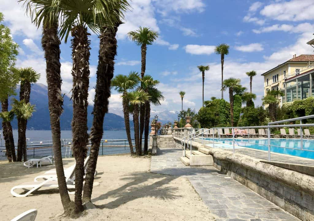 Sandy beach at the Grand Hotel Villa Serbelloni