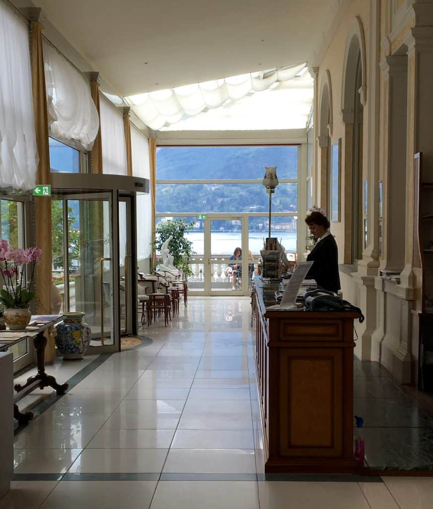 Entry of the Grand Hotel Villa Serbelloni