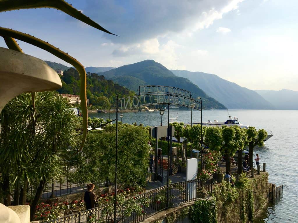 View from the terrace at Grand Hotel Villa Serbelloni