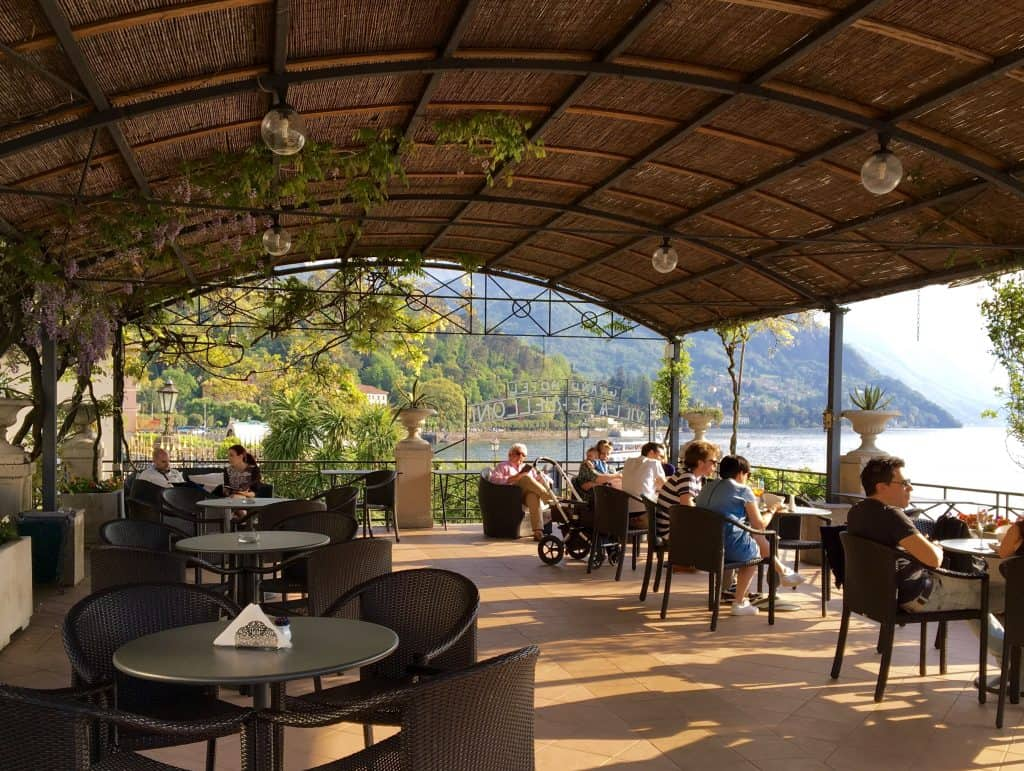 Terrace at the Grand Hotel Villa Serbelloni