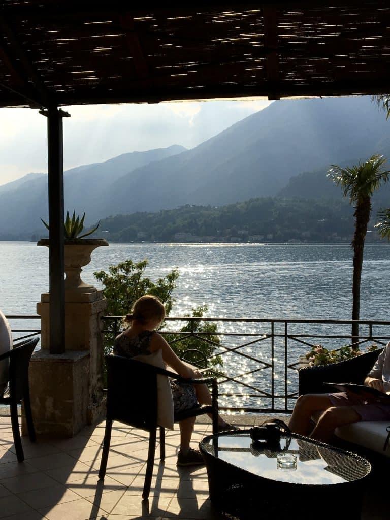 Terrace view at the Grand Hotel Villa Serbelloni
