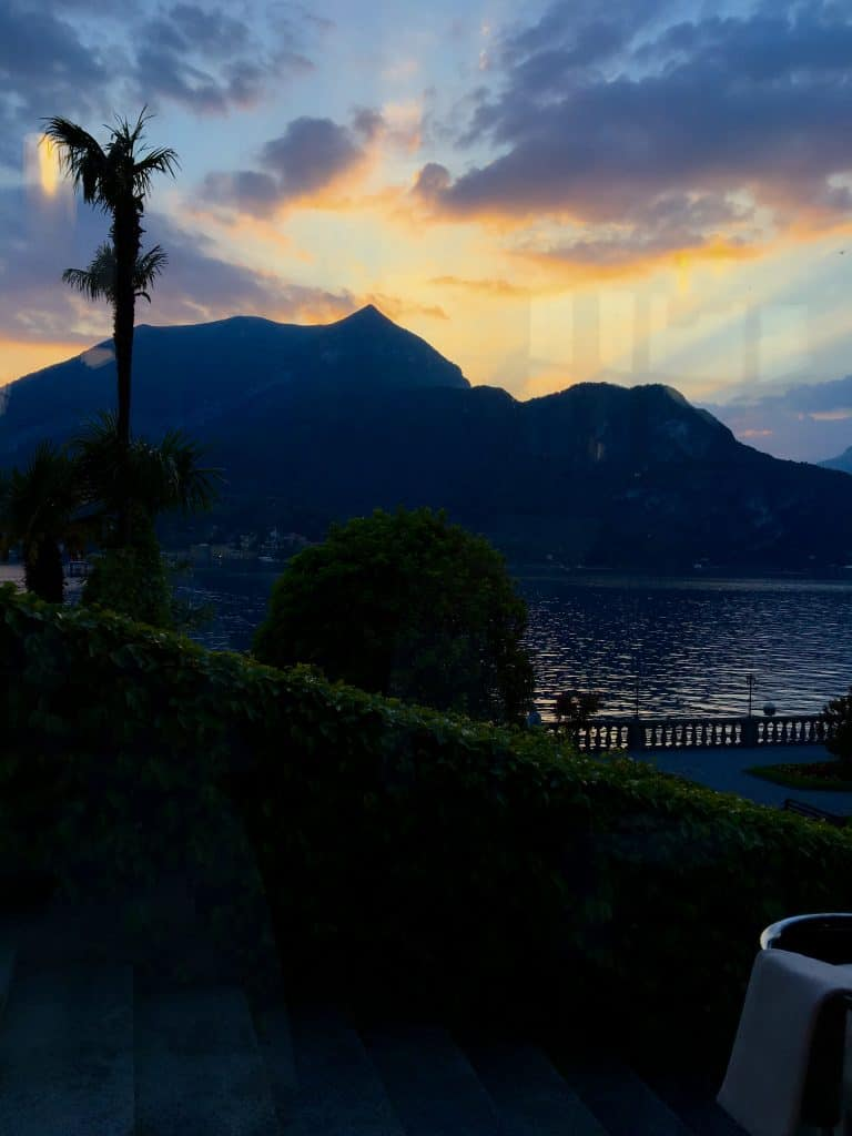 Sunset at the Grand Hotel Villa Serbelloni