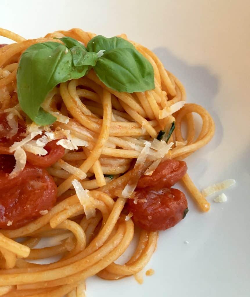 Spaghetti at the Mistral restaurant in Grand Hotel Villa Serbelloni