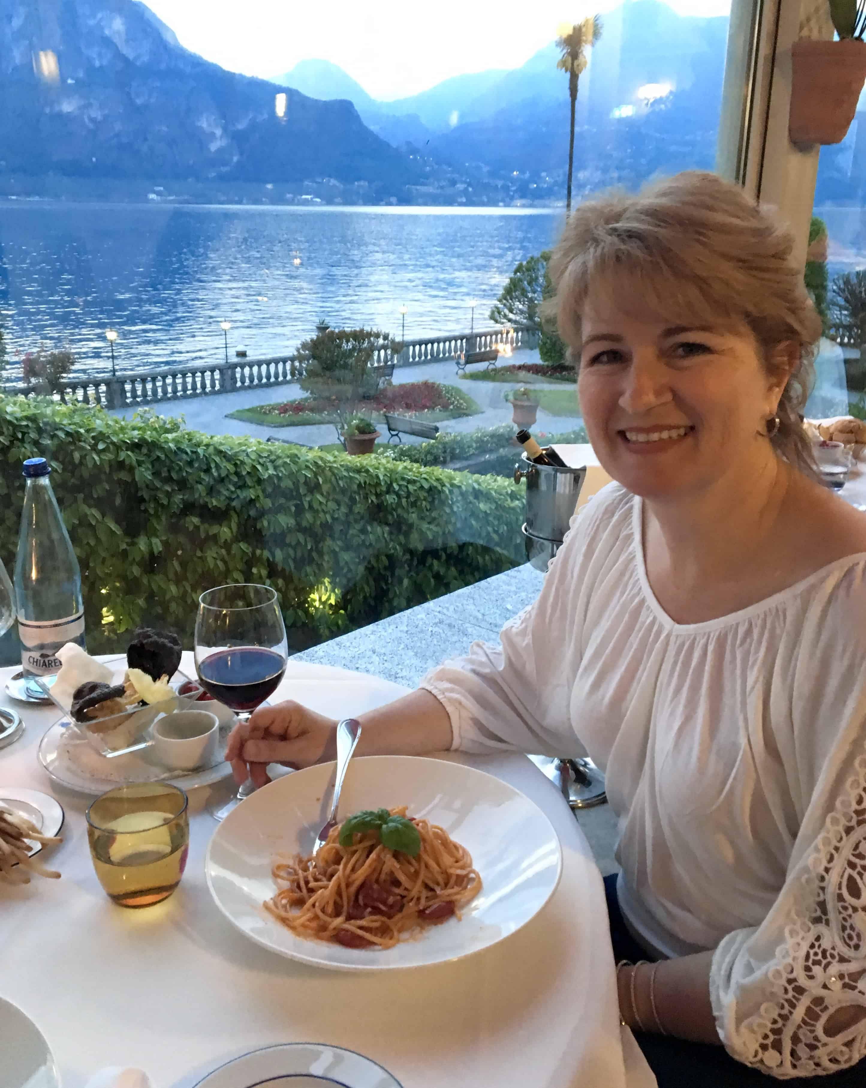 Christina Conte (Christina's Cucina) at Mistral, Grand Hotel Villa Serbelloni, Italy work with Christina's Cucina