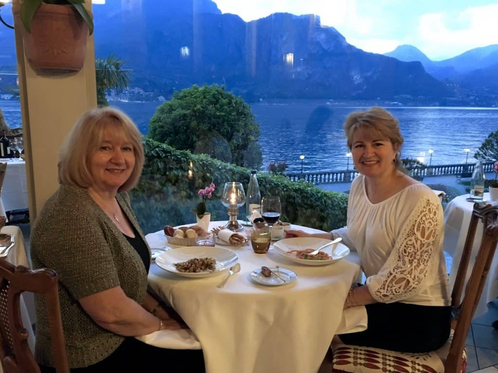 Christina Conte (Christina's Cucina) and her mother at Mistral, Grand Hotel Villa Serbelloni, Italy